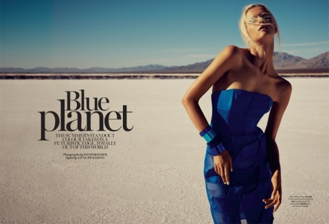 Blue Planet: Alyona Subbotina Dazzles in Marie Claire UK by David Roemer