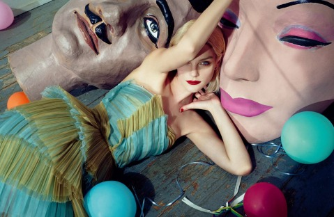 Jessica Stam by Sofia Sanchez & Mauro Mongiello for Numéro China April 2015