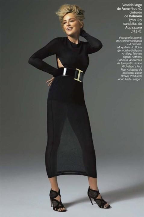 Lorenzo Agius for S Moda with Sharon Stone
