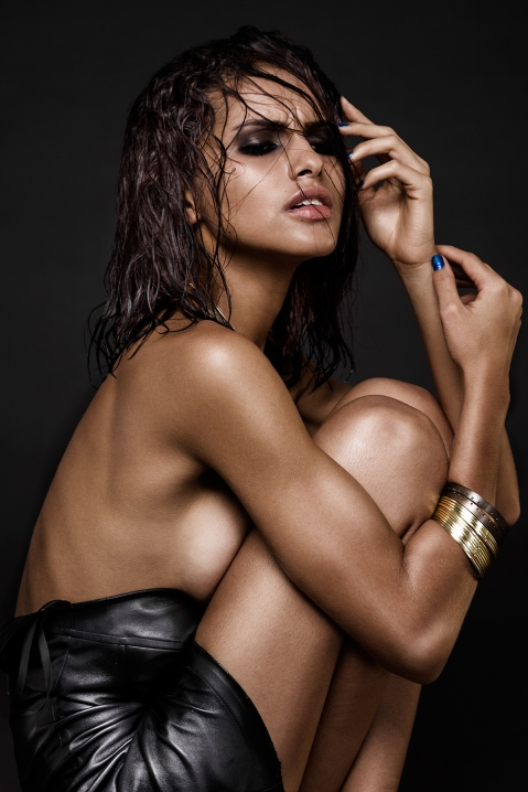 Selena Carvalho Stuns In 'Wet Leather' Feature By Luan Magalhães